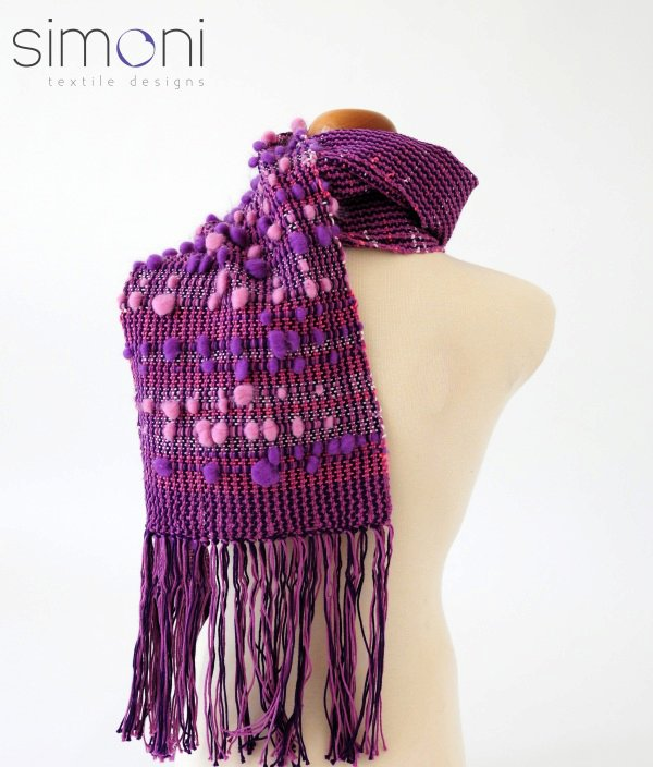 Sweet Rose hand woven scarf