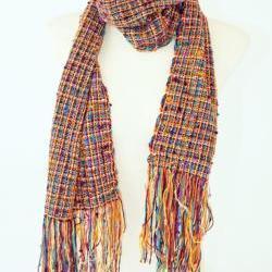 Hand woven Velvet Rose Tweed scarf