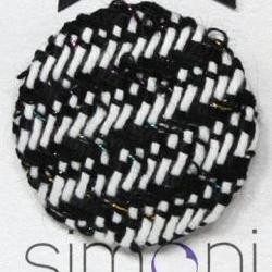 Black and White Hand-woven Brooch